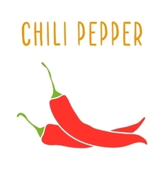 Chili pepper isolated on white vector image vector image
