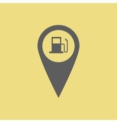 Gas station pin vector image