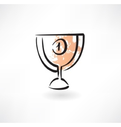 goblet first place grunge icon vector image