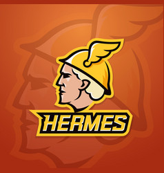 hermes abstract team logo emblem or sign vector image