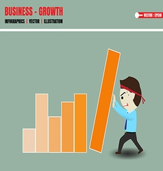 Accelerate business growth vector image vector image
