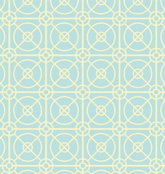 Circle and Square Pattern on Pastel Color vector image vector image