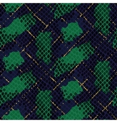 Snake skin green artificial seamless vector image vector image