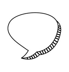 speech bubble monochrome message icon vector image