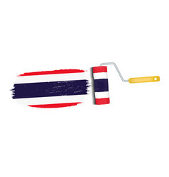 brush stroke with thailand national flag isolated vector image