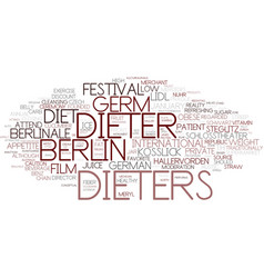 dieters word cloud concept vector image vector image