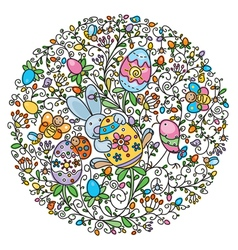 easter pattern vector image vector image