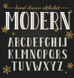 Hand drawn modern font vector image vector image