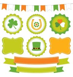 Irish set vector image
