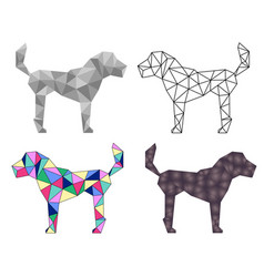 low poly dog vector image vector image