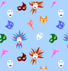 masquerade colorful background vector image