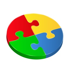 puzzle circle vector image