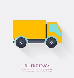 Shuttle truck Warehouse icons logistic blank and vector image