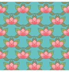 Stylized Lotus Background vector image vector image