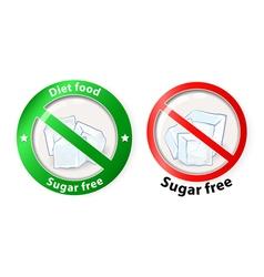 sugar free vector image vector image