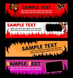 flame banners vector image vector image