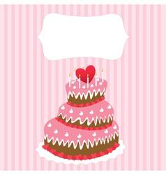 wedding cake valentines day vector image vector image