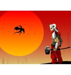 Ancient warrior image vector image