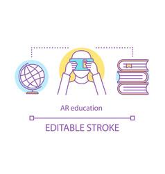 Ar education concept icon vector