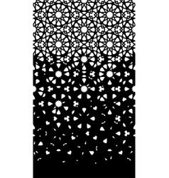 Arabic cut out laser seamless pattern vector