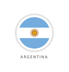 Argentina circle flag template design vector