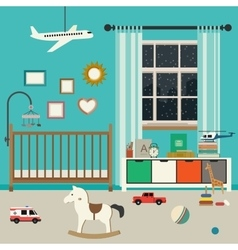 Baby room interior vector