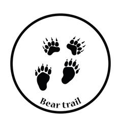 Bear trails icon vector