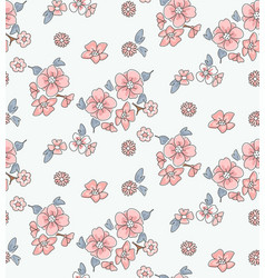 Beautiful flora on white background vector