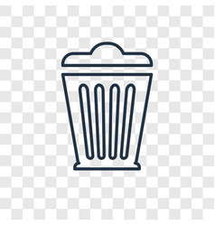 bin concept linear icon isolated on transparent vector image