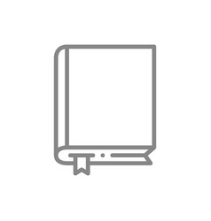 book line icon diary e-book encyclopedia symbol vector image