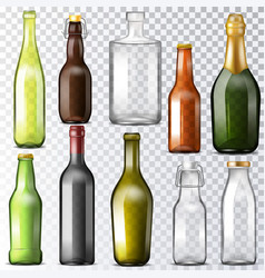 bottle glass glassware water-bottle and vector image