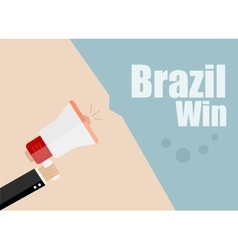Brazil win Flat design business vector