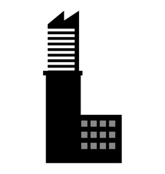 building silhouette construction icon vector image