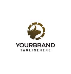 bull gear logo design concept template vector image