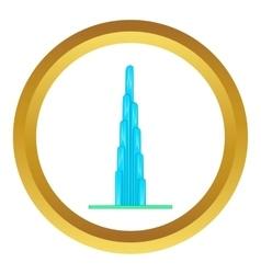 Burj Khalifa icon vector image