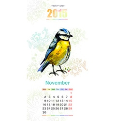 calendar for 2015 november vector image