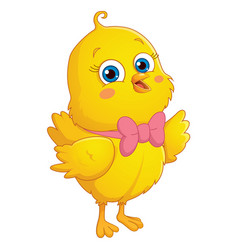 Cartoon chick vector