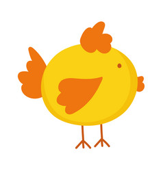 Chicken cartoon farm animal isolated icon on white vector