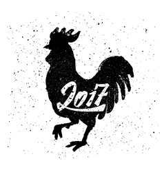 Chinese rooster vector