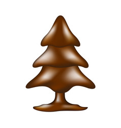 chocolate tree in dark brown design vector image
