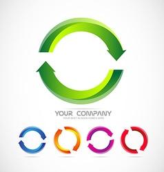 Circle arrow logo recycle vector