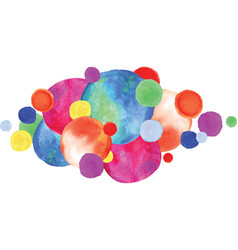 Colorful watercolor circles vector