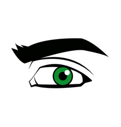 comic eye look optical style vector image