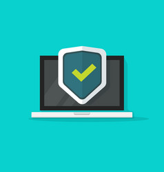 computer protection icon isolated flat vector image vector image