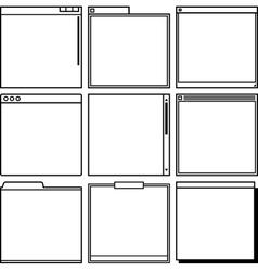 Computer window frames vector image