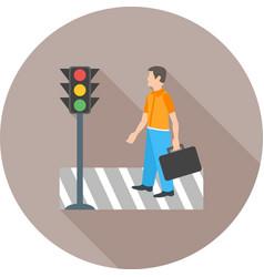 Crossing road vector