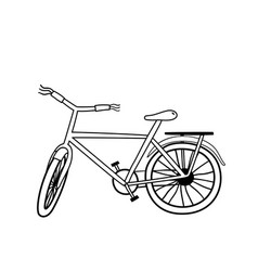 Cute bicycle for children coloring page vector