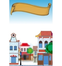 Day in small town vector image