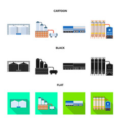 Design of production and structure sign vector