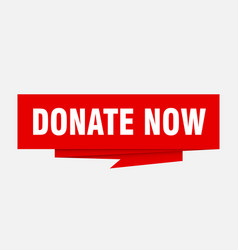 Donate now vector
